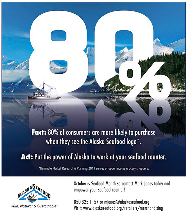 80% of consumers are more likely to purchase when they see the Alaska Seafood logo